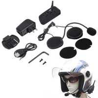 Nuevo V6 del intercomunicador del casco de 6 corredores 1200 m de la motocicleta intercomunicador de Bluetooth Headset Walkie Talkie casco BT Interphone macho caliente
