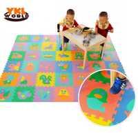 9 unids/pack Esteras del rompecabezas del bebé de la EVA caliente de la espuma del alfabeto educativo del número de la forma del Animal del rompecabezas del niño para los juguetes de los niños (S5