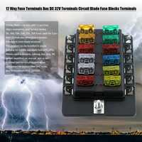 10 piezas 12 vías fusible terminales DC caja 32 V terminales circuito fusible bloques terminales