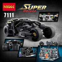 En STOCK actualización DECOOL 7111 2113 piezas Oversized Bat Batman el vehículo de combate ladrillos gigante juguetes de construcción 78023