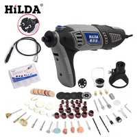HILDA 220 V 180 W Dremel estilo herramienta rotativa Dremel accesorios eléctrica Mini taladro para herramientas de enchufe de la UE velocidad Variable