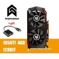 Tarjeta gráfica PCI-E GTX1050TI 4 GB/4096 Mb DDR5 128Bit Placa de vídeo carta graphique tarjeta de vídeo para Nvidia