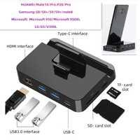 Adaptador de corriente FDBRO USB-C a HDMI para Huawei P20 Pro USB tipo C HUB estación de acoplamiento para Samsung S8 s9 Note8 Dex de estación