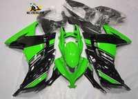 Kit de carénage en plastique ABS moulé par Injection pour Kawasaki Ninja 300 EX300R 2013-2016 vert noir