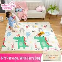 Infantile brillant bébé tapis tapis de jeu pour enfants 180*200*1.5cm tapis de jeu plus épais plus grands enfants tapis doux bébé tapis ramper tapis de sol