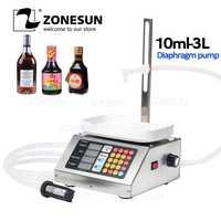 ZONESUN 10-3000ml petite Machine de remplissage liquide de CNC automatique 110 V-220 V parfum pesant la Machine de remplissage lait boisson remplisseur