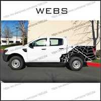 Personalizado para Ford rangers pegatinas 2 PC redes spider 4X4 wildtrack del cuerpo del coche trasera LADO DE GRÁFICO vinilos accesorios calcomanías