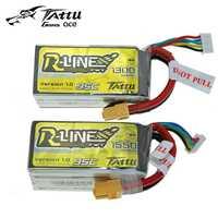 TATTU batería LiPo 4S 1300 mah 1550 mah 14,8 V 95C XT60 la violencia de litio de polímero Li-polímero batería de RC FPV Racing Drone Quadcopter Juguetes