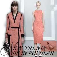 Color sólido alto contenido de lana diseño de ropa media falda vestido de tela 153 cm ancho grande tejido de lana