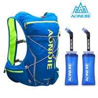 AONIJIE E904S Nylon 10L al aire libre bolsas mochila de senderismo chaleco profesional cinta maratón correr ciclismo mochila para 2L bolsa de agua