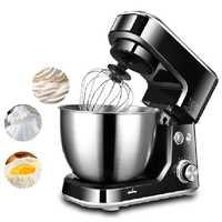 Beijamei 4 L 6-velocidad soporte mezcladoras eléctricas crema huevo batidora licuadora torta masa pan mezclador máquina