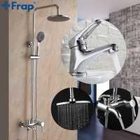 Frap nouveauté salle de bains combinaison bassin robinet et robinet de douche mitigeur eau froide et chaude F2416 F1013