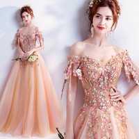 100% real Orange Rosa princesa bordado vestido medieval vestido renacimiento Victoria gótico LOL/Marie Antoinette Belle bola