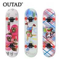 OUTAD Arce luminoso de cuatro ruedas Skate Board impermeable profesional deriva de madera longboard patinetas nuevo estilo