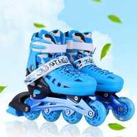 Flash Patines en línea para niños zapatos niños rodillo niños zapatos de patinaje intermitente luz ruedas de la PU patinaje libre Patines transpirable