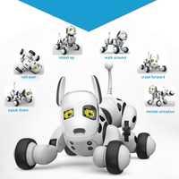 Eléctrico mascota perro de juguete Robot inteligente de Control remoto inalámbrico hablando blanco perros juguetes para niños de regalo Vt043