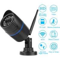 WIFI cámara de red IP HD cámara de vídeo con tarjeta SD inalámbrica visión nocturna Cámara impermeable al aire libre acceso remoto