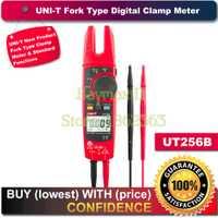 UNI-T UT256B Auto de la gama de 200A AC/DC Digital de verdadero valor eficaz (RMS) de la horquilla Tipo de medidor de pinza con ohm capacitancia NCV prueba