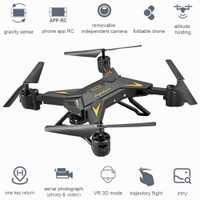 Plegable HD 1080 P HD WIFI FPV Selfie Drones remoto helicóptero KY601S RC Quadcopter Drone con cámara de 4 canales de ángulo ancho largo duradera
