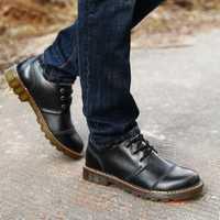 2018 de primavera y otoño Martin botas y los hombres zapatos de moda, zapatos ocasionales de negocio de los hombres