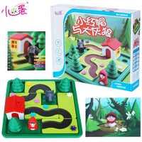 ¡Candice guo! Juguete plástico educativo Lobo Caperucita Roja pensamiento lógico Aprendizaje Temprano juego niños Regalo de Cumpleaños 1 P