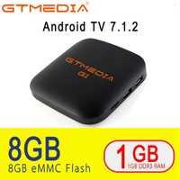 GTmedia G1 Android TV Box Smart TV IPTV 4 K H.265 HDR Quad Core 1G 8G WIFI Google fundido Netflix IPTV Set Top Box 4 reproductor de medios