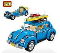 Mini bloques Technic Mini ciudad coche 2 en 1 Model Building ladrillos vehículo coche de carreras juguetes de montaje para niños LOZ 1114