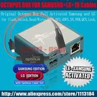 Caja original del pulpo completa activa para LG y Samsung 19 cables incluyendo Optimus cable y flashear y reparación herramienta