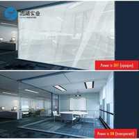 Sunice 1 pièces 94cm x 146cm Film intelligent transparent à Opaque PDLC verre commutable Electroc vinyle avec alimentation 50w avec télécommande