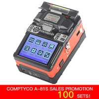 COMPTYCO FTTH fibra óptica de soldadura máquina de empalme de fibra óptica empalmador de fusión A-81S nuevo producto
