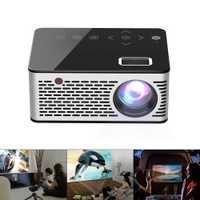 T260 Universal 116 pulgadas portátil Mini proyector LED resolución 320x240 Multimedia con botón táctil para el hogar y el entretenimiento