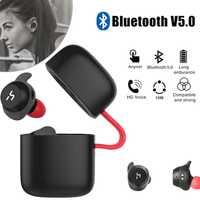 HAVIT TWS auricular Bluetooth inalámbrica deporte del auricular impermeable auriculares estéreo con micrófono para llamadas de manos libres G1