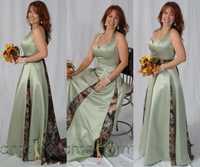 Vestidos Vintage de noche de camuflaje con cuello Halter hasta el suelo vestidos largos de fiesta de noche 2019