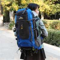 Mochila de senderismo impermeable de 70 L para senderismo, escalada, montañismo, mochila de viaje al aire libre, mochila de senderismo de 5 colores
