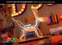 Gran globo perro 4d rompecabezas maestro montaje de juguete perspectiva hueso modelo de anatomía