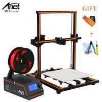 Anet E12 E10 A8 A6 3d impresora de gran tamaño de impresión de 3d máquina de la impresora de alta precisión actualización varilla roscada Reprap i3 3D impresora