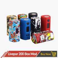 Original Yosta Livepor 200 w caja Mod de la batería Dual TC vaporizador 0,08-3ohm 6 modo diferente Vape Mod protección pantalla OLED cigarrillo electrónico