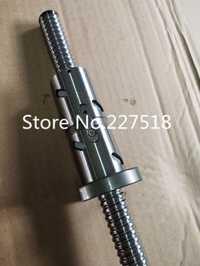 1 unid bola tornillo RM1605 1000mm + 1 unid DFU1605 bola doble tuerca estándar extremo mecanizado para BK/ BF12