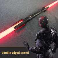 Nuevo de alta calidad profesional YDD Cosplay sable de luz y sonido con luz Led rojo verde azul sable láser de Metal de juguete espada bir