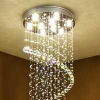 Moderno estilo retro de Europa de cristal brillo luces de techo GU10 Plafonnier LED lámpara de techo para habitación sala de restaurante bar