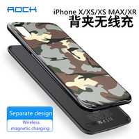 Chargeur magnétique sans fil ROCK clip arrière batterie externe pour iPhone X XR XS MAX 5000 MAh batterie de secours externe boîtier de charge rapide