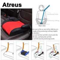 Atreus asiento de coche portátil cinturón chico espesar sillas funda de cojín para Mercedes Benz W204 W203 W211 AMG Mini Skoda octavia A5