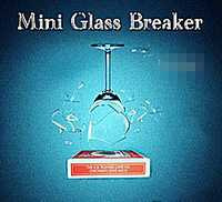 Envío Gratis Mini rompevidrio en control Remoto/truco de magia/caja de tarjeta de bicicleta/magia de escenario/mentalismo