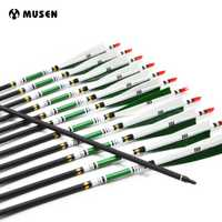 12 unids/pack Spine 500 flechas de carbono punto objetivo flechas con cambiable punta pluma de Turquía OD7.6mm flechas