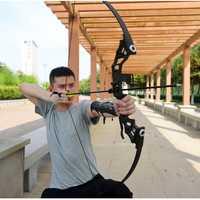 Profesional arco recurvo arco 30-45 lbs poderoso caza tiro con arco y flecha de caza al aire libre tiro de pesca