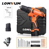 Lomvum nuevo Mini herramientas eléctricas 12/16/24 V doble velocidad eléctrica taladros inalámbricos baterías herramientas de mano destornillador eléctrico Taladro
