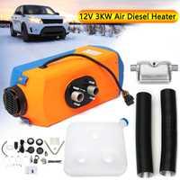 Calentador de coche KROAK 12 V 3KW calentador de estacionamiento calentador de aire diésel con interruptor giratorio + Silenciador para motor RV camiones autobús barco