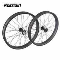 26er bici carbono 65mm x 25mm hookless 26 pulgadas de nieve bicicleta 26 borde con powerway /novatec/hubhubsmith ciclo hubs