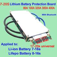 80A 100A 320A 300A 400A 7 s-16 S 17-20 s de iones de litio de LiFePO4 PCB BMS la Junta de Protección Bluetooth 10 s 12 S 13 S 14 S 18 S 19 S