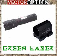 Óptica del Vector Starscream ajustable caza láser verde Dot Sight Collimator pistola Lazer para Tactical Rifle Airsoft